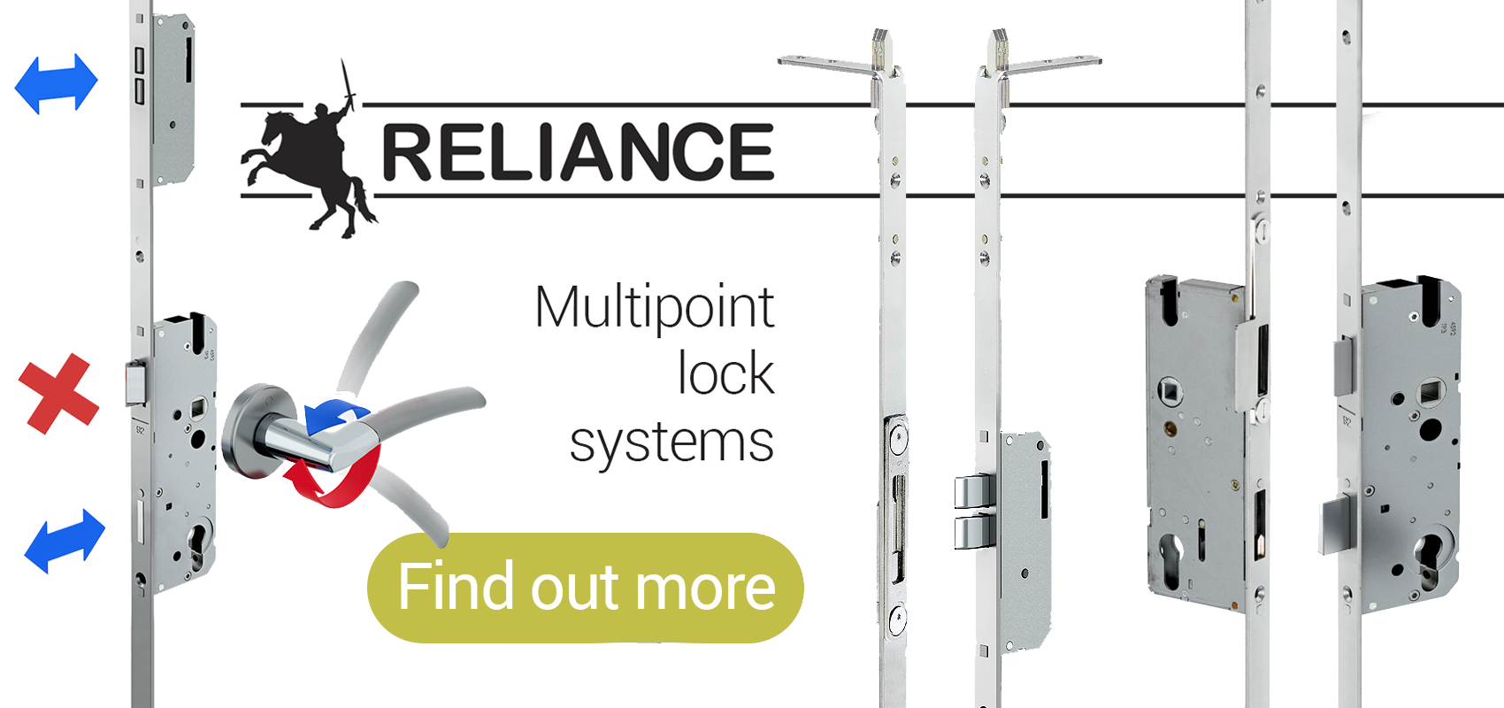 Reliance Multipoint Lock Systems for single and double doors from Quest Hardware