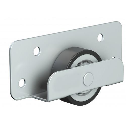 Series Mini Bottom Roller Pair 24mm Diameter Steel-Nylon Wheel 35kg Capacity