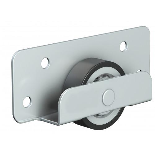 Series Mini Bottom Roller Pair 18mm Diameter Steel-Nylon Wheel 25kg Capacity