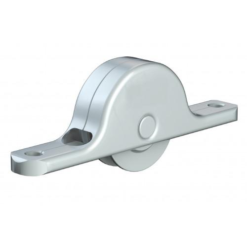 Series Mini Delrin Wheel Bottom Guide Roller 24mm Diameter 35kg Capacity