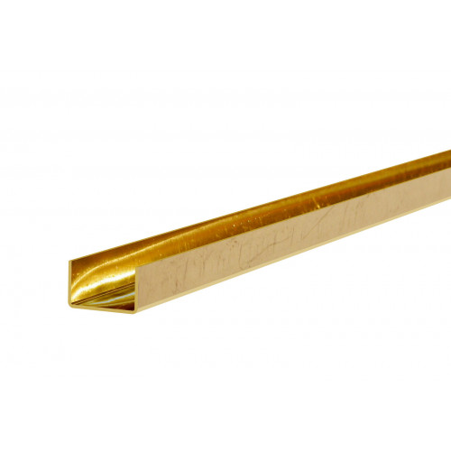 Series Mini 2m 6 x 3.7mm Deep Brass Plated Bottom Guide Channel 25kg Capacity