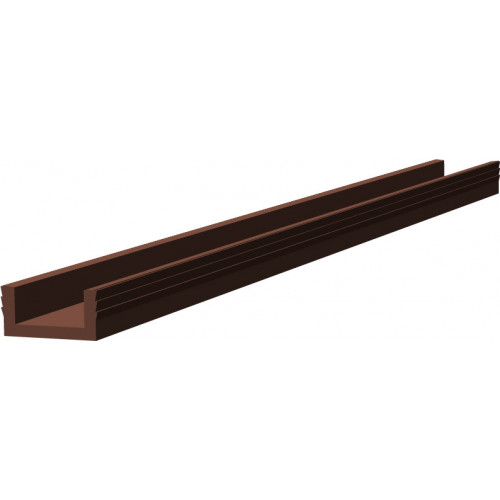 Series Mini 3m Brown Bottom Track PVC Guide Channel 25kg Capacity
