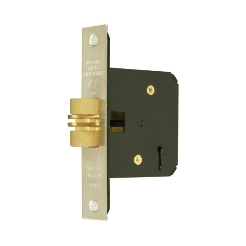 Sliding Door Lock 5Lever Clawlock 76mm Brass