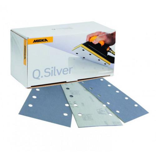 115 x 230mm 120g Q. Silver abrasive sheets, 10 hole, 100/pk