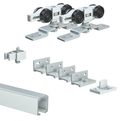 Trakkit Quiesce Hanger Set For 1 Additional Door 40kg Maximum Weight Per Panel