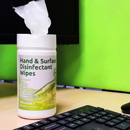 Hand & Surface Disinfectant Wipes Anti-Bac EN1276 100pk