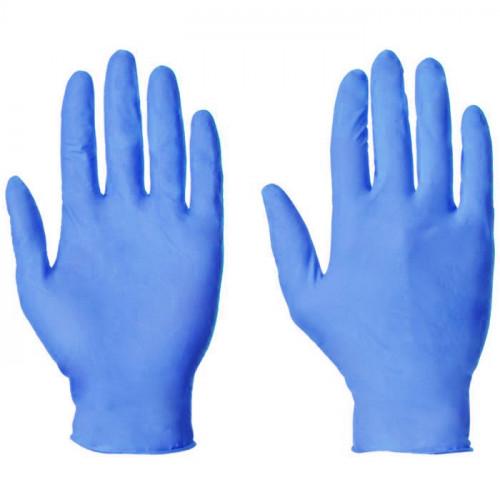 Nitrile Gloves Disposable Blue Medium 100pk