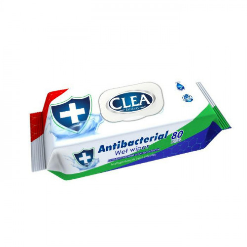 Clea Anti-bacterial Wipes, 80pk