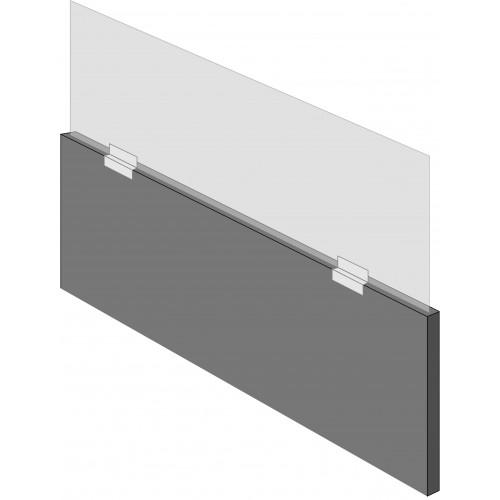 Screen support bracket for desk dividers