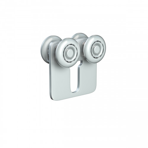 Series 20 Double Axle Steel Wheel Hanger, 50 x 52.5mm Fixing Plate, 45Kg Capacity