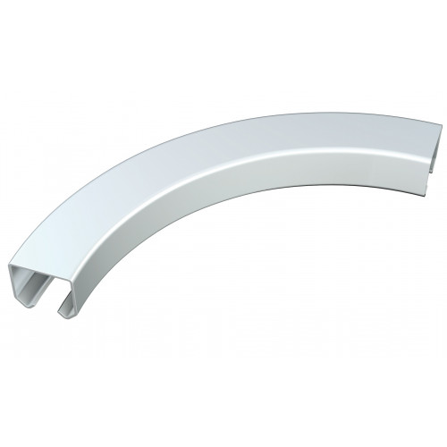 Series 20 0.75m Curved Galvanized Steel Top Track