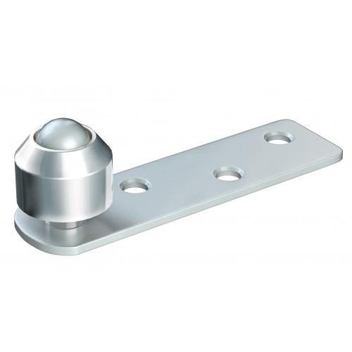 Series 20 14mm Diameter Brass Bottom Guide Roller, Offset On Flat Steel Plate