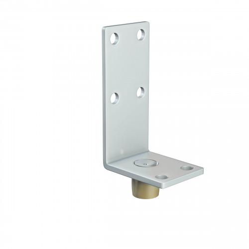Series 20 14mm Diameter Brass Bottom Guide Roller, On Angled Steel Plate
