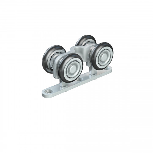 Series 20 Double Axle Nylon Wheel Hanger With Top Mounting Plate, 35Kg Capacity