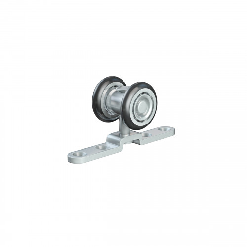 Series 20 Single Axle Rotating Nylon Wheel Hanger With Top Mounting Plate, 33Kg Capacity
