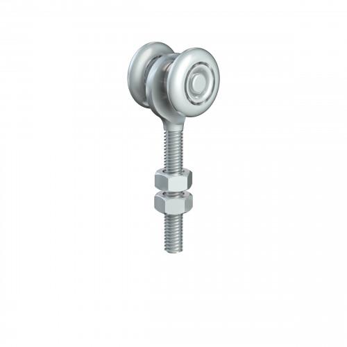Series 20 Single Axle Delrin Wheel Hanger, M8 x 46mm Pin, 25Kg Capacity