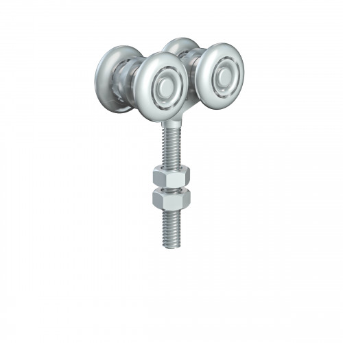 Series 20 Double Axle Delrin Wheel Hanger, M8 x 46mm Pin, 35Kg Capacity
