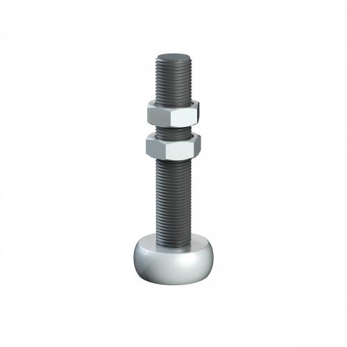 Series 250 34mm Diameter Brass Bottom Guide Roller, On M16 Shaft