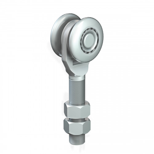 Series 250 Single Axle Steel Wheel Hanger, M20 x 80mm Pin, 220Kg Capacity