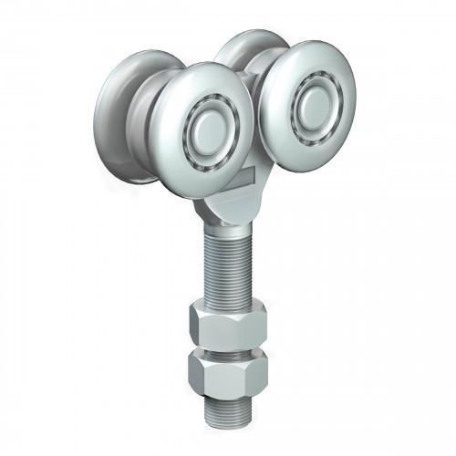 Series 250 Double Axle Steel Wheel Hanger, M20 x 80mm Pin, 500Kg Capacity