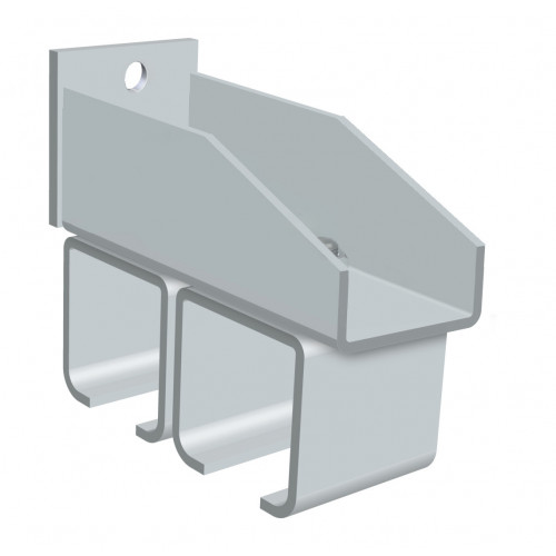 Series 250 Twin Track Wall Fixing Steel Bracket For Galvanized Steel Top Track