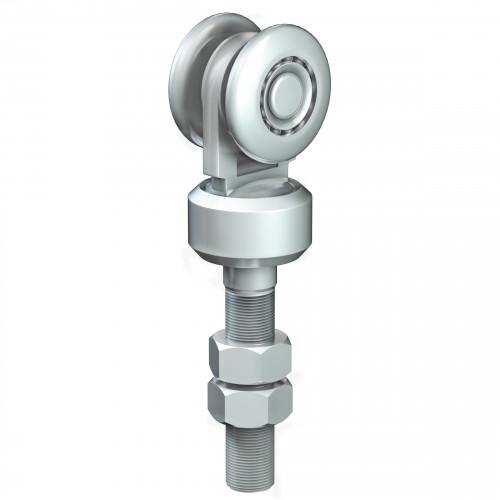 Series 250 Single Axle Rotating Steel Wheel Hanger, M20 x 97mm Pin, 220Kg Capacity