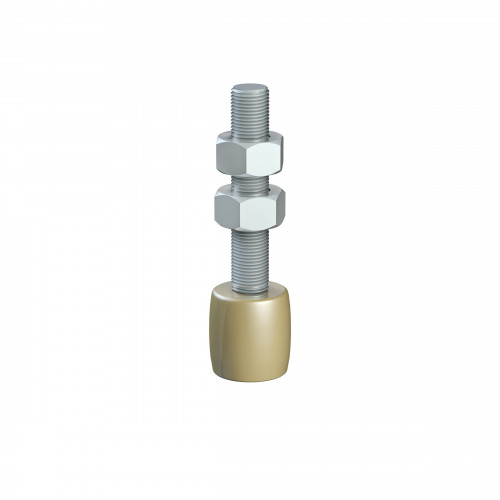 Series 250 25mm Diameter Brass Bottom Guide Roller, On M12 Shaft