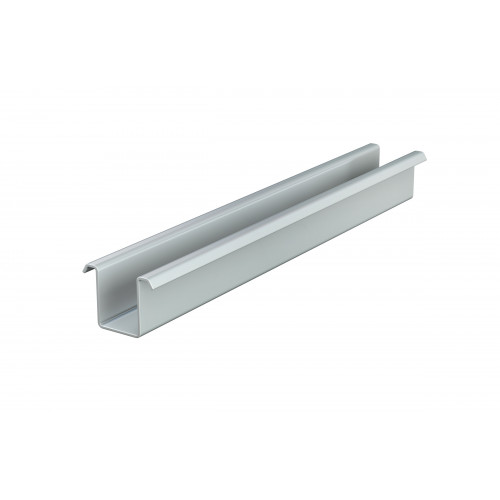 Series 250 1m Galvanized Steel Bottom Guide Channel