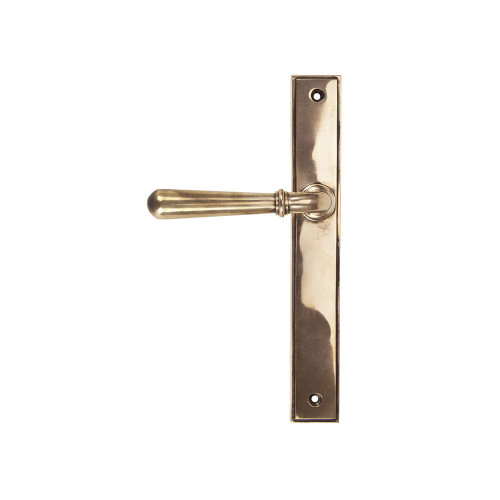 Polished Bronze Newbury Slimline Lever Latch Set