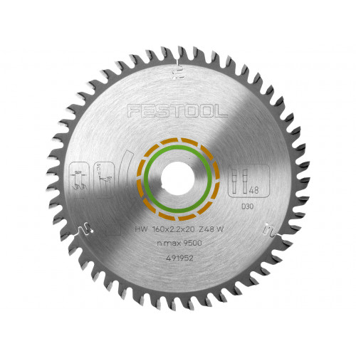 Festool 491952 Saw Blade 160mm × 48T × 20mm Bore
