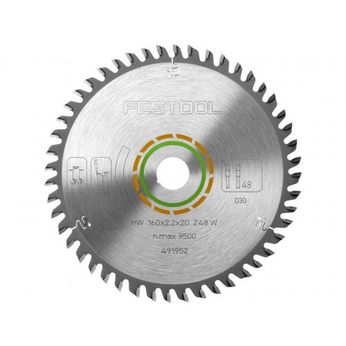 Festool 491952 Saw Blade 160mm × 48T × 20mm Bore