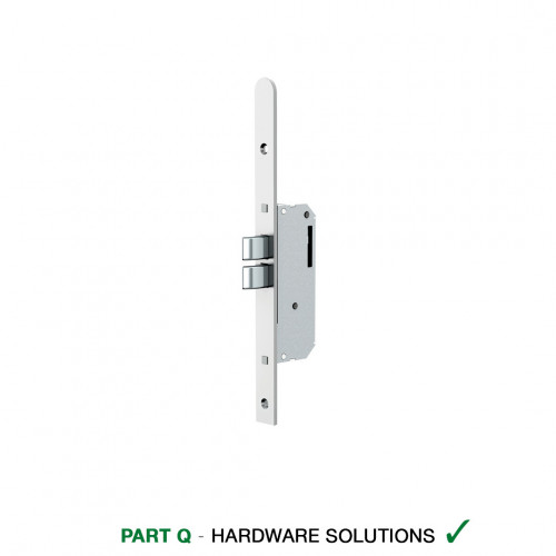 Reliance D11 Nightlatch Twin Deadbolt Multipoint Lock, LH, 45mm Backset, 20mm Radius End Faceplate, 60 Variant