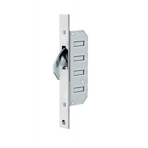 Reliance D60 Hookbolt, Upper Stable Door Multipoint Lock, 45mm Backset, 20mm Radius End Faceplate