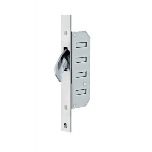 Reliance D60 Hookbolt, Upper Stable Door Multipoint Lock, 45mm Backset, 20mm Radius End Faceplate