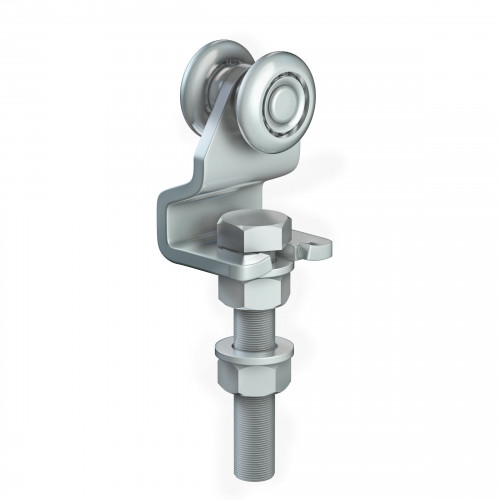 Series 50 Single Axle Steel Wheel Hanger With Cranked Mounting Plate, 110Kg Capacity