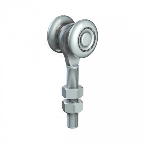 Series 50 Single Axle Steel Wheel Hanger, M12 x 60mm Pin, 160Kg Capacity