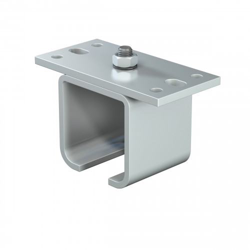 Series 50 Soffit Fixing Track Support Bracket For Galvanized Steel Top Track