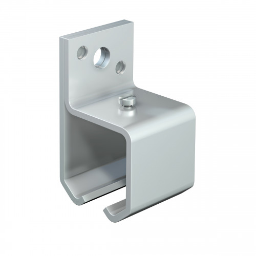 Series 50 Face Fixing Track Support Bracket For Galvanized Steel Top Track