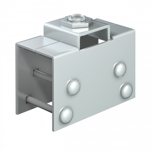 Series 50 Rotating Steel Suspension Plate With Door Clamp, M12 Thread,