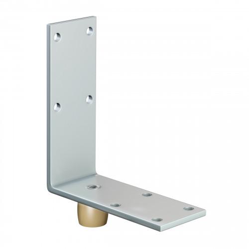 Series 50 20mm Diameter Brass Bottom Guide Roller, On Angled Steel Plate