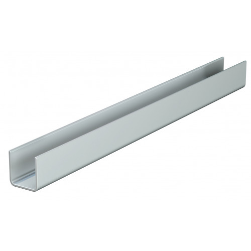 Series 50 1m Galvanized Steel Bottom Guide Channel