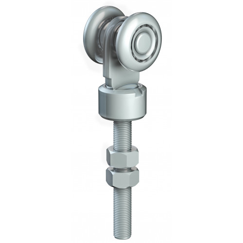 Series 50 Single Axle Rotating Steel Wheel Hanger, M12 x 78mm Pin, 160Kg Capacity