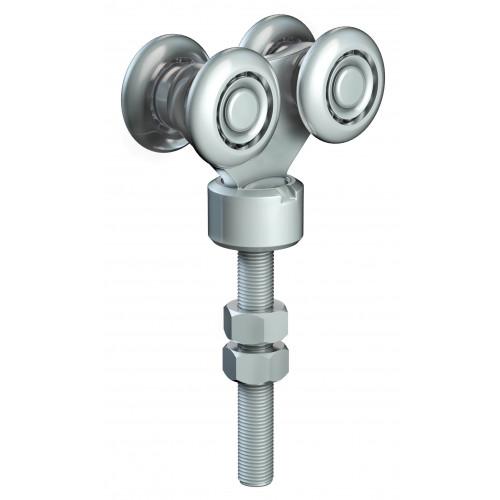 Series 50 Double Axle Rotating Steel Wheel Hanger, M12 x 78mm Pin, 220Kg Capacity