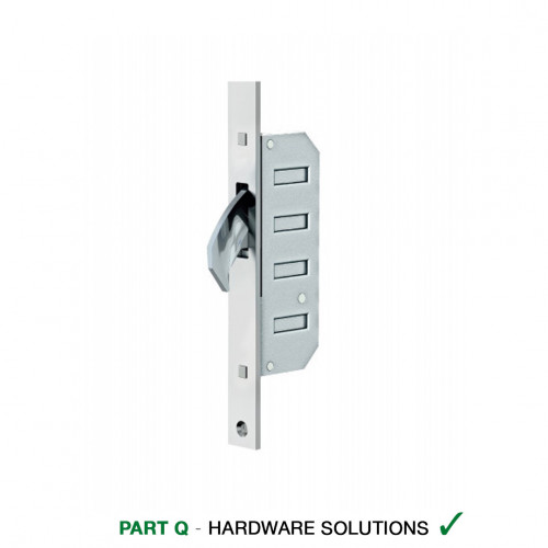 Reliance D20 Hookbolt Multipoint Lock, LH, 45mm Backset, 20mm Square End Faceplate, 62 Variant