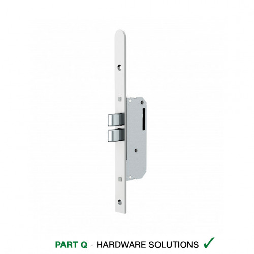 Reliance D51 Heritage Style, Twin Deadbolt Multipoint Lock, 45mm Backset, 20mm Radius End Faceplate
