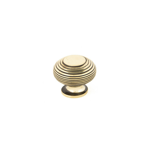 Beehive knob large, Antique Brass