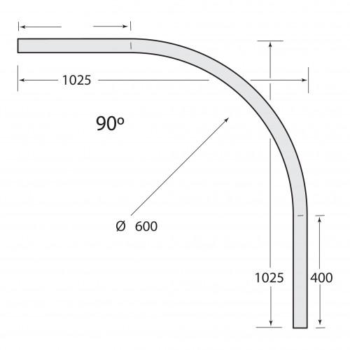 Multirail Track Bend 90°