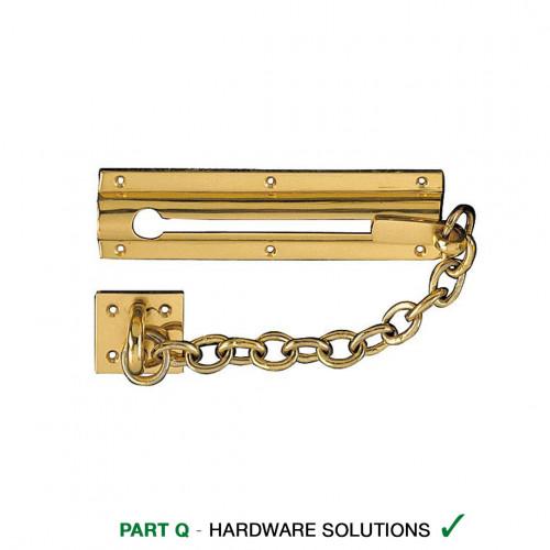 Door Chain Brass