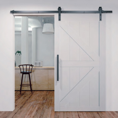 Black BarnStyle Sliding Door Kit