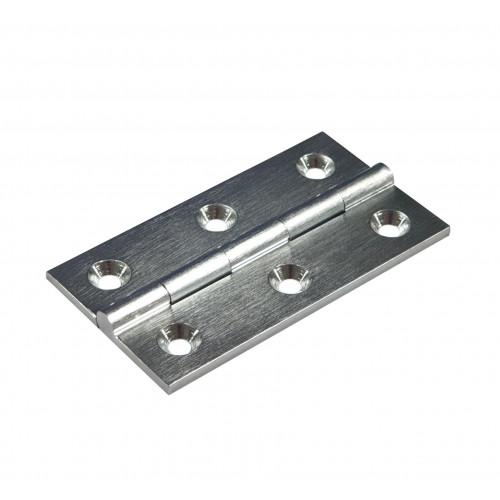 Cabinet Hinge Premium Satin Chrome 64 × 35mm Pair
